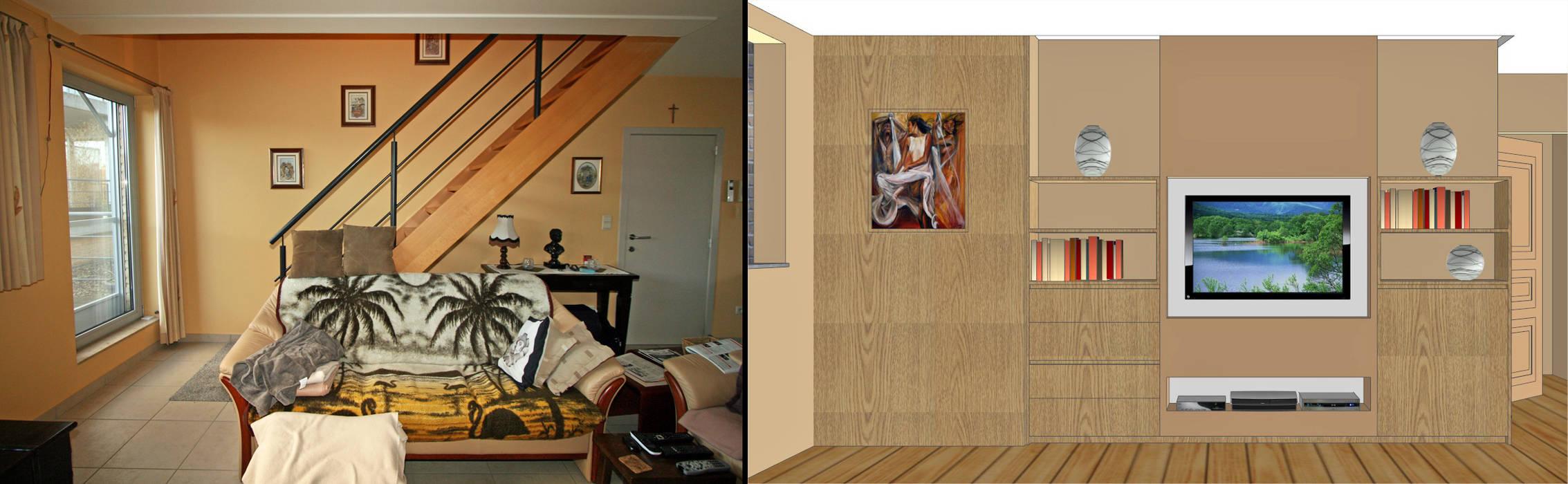 transformation créative d'un escalier : Salon de style de style Moderne par Sfeerontwerp | créateur d'atmosphère