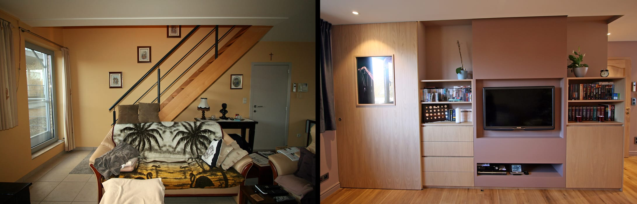 transformation créative d'un escalier : Salon de style de style Moderne par Sfeerontwerp   créateur d'atmosphère