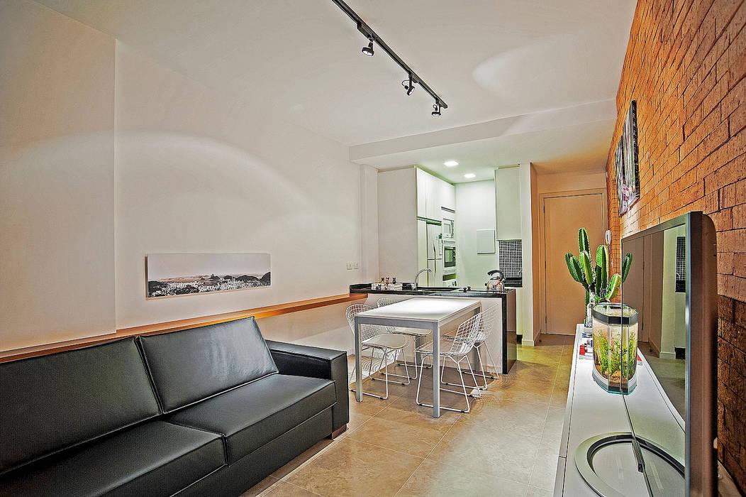Apartamento LB Studio Boscardin.Corsi Arquitetura Salas de estar modernas