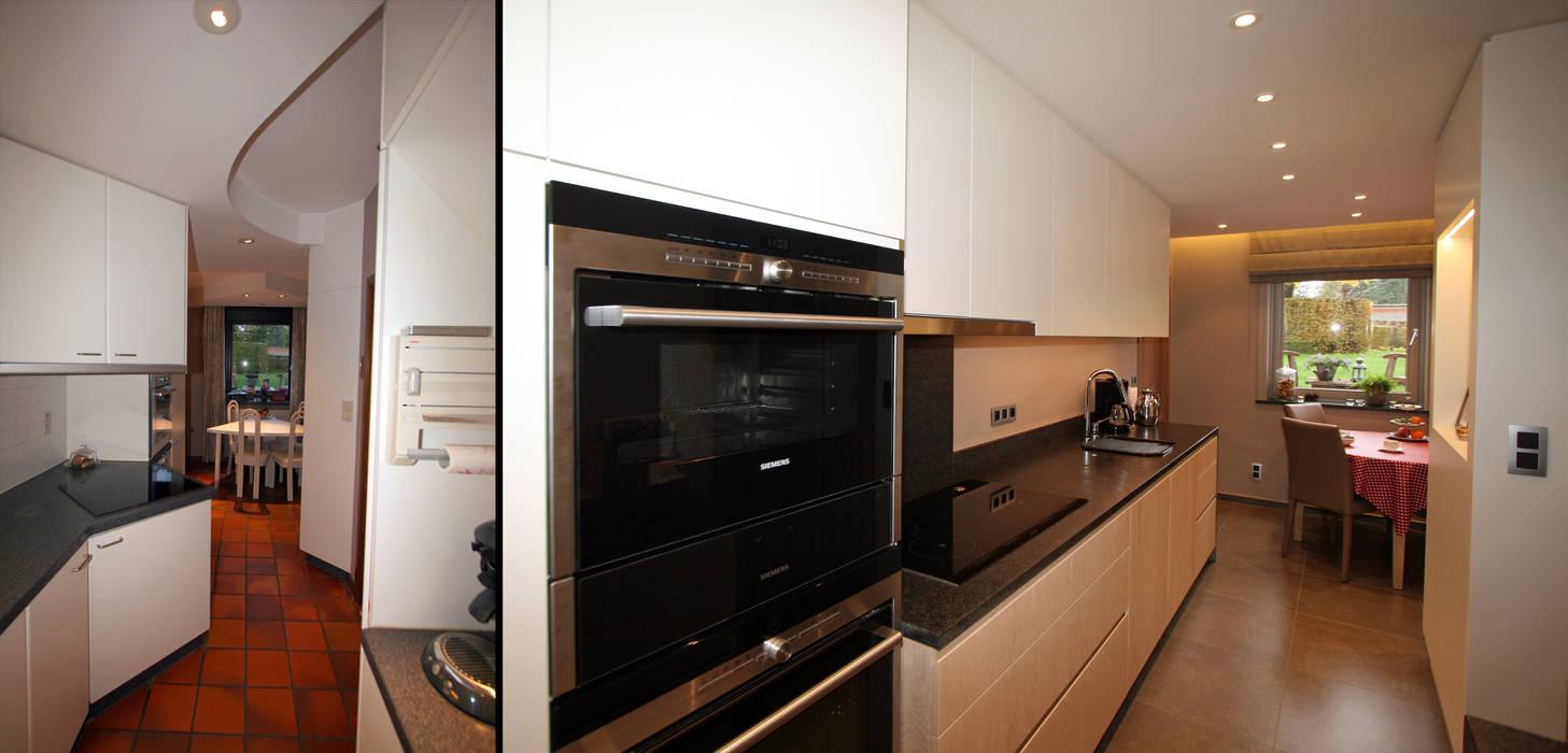 restyling d'une cuisine vers le style contemporain : Cuisine de style de style Moderne par Sfeerontwerp | créateur d'atmosphère