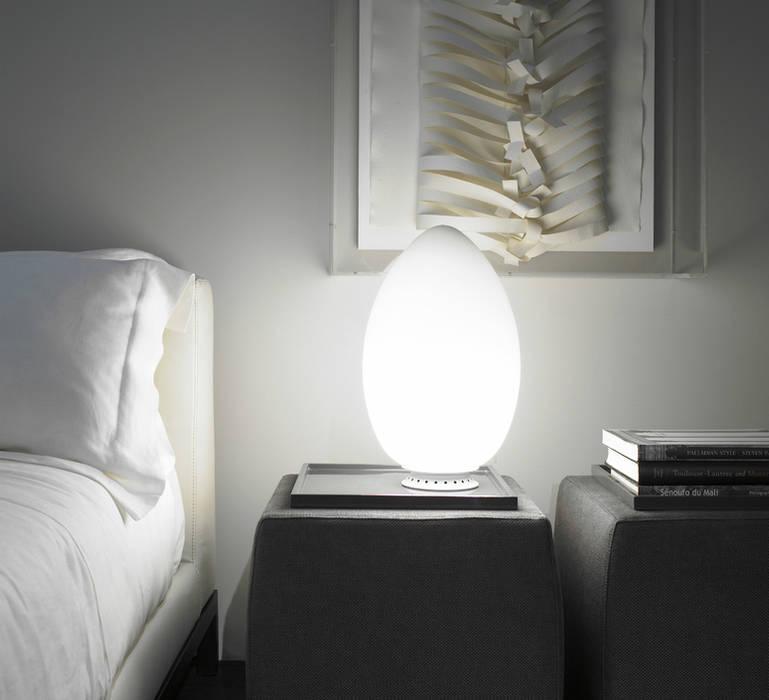 LAMPE À POSER, UOVO, BLANC, H28CM - FONTANA ARTE par NEDGIS Moderne Verre
