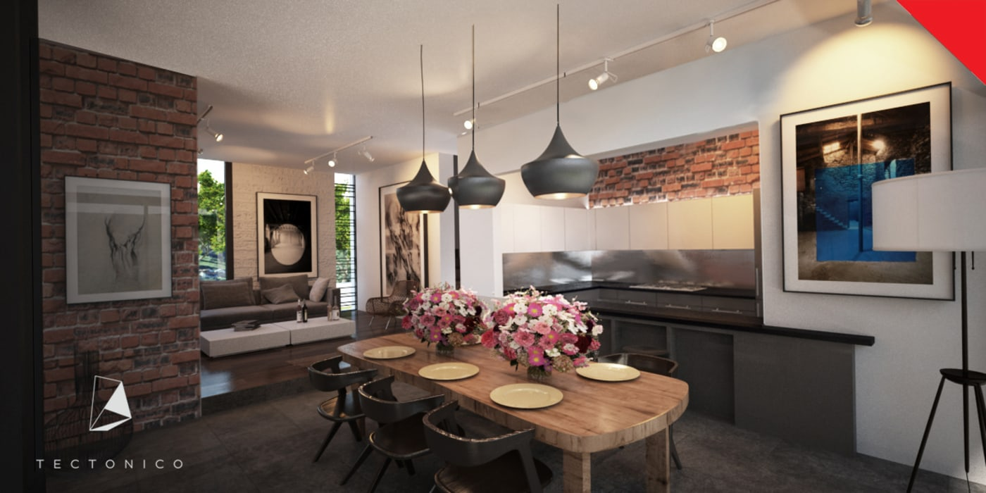 Tectónico Minimalist dining room