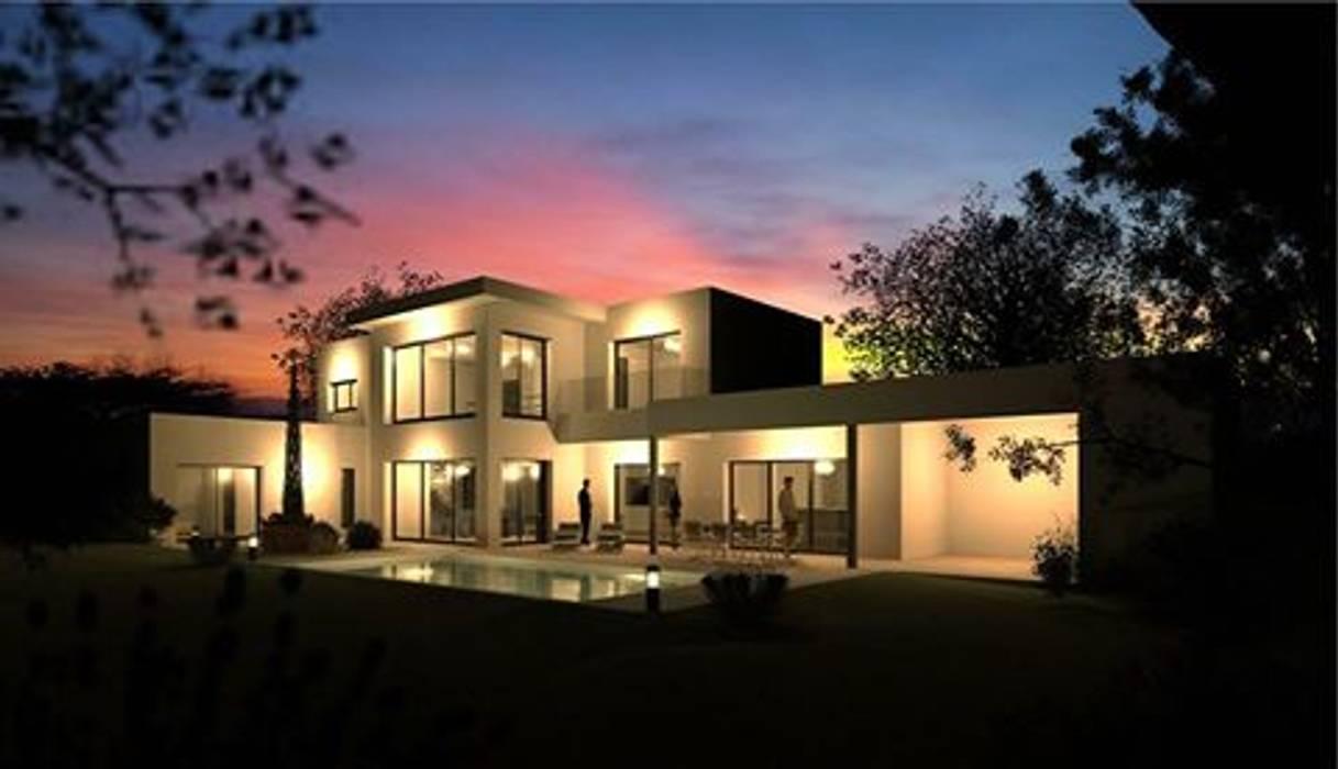 Maison Contemporaine avec toit plat: Maisons de style de style Moderne par Concept Creation
