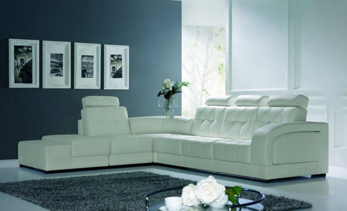 Intense mobiliário e interiores ห้องนั่งเล่นโซฟาและเก้าอี้นวม White