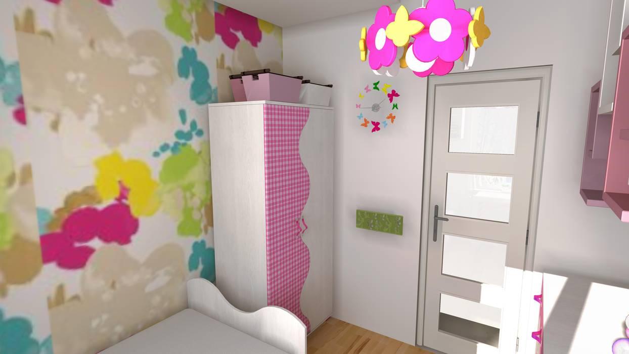 Pokój dla 3-letniej dziewczynki od WIZJA WNĘTRZA - projekty i aranżacje