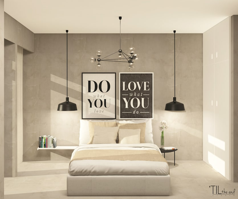 Dormitorios de estilo  de Lagom studio