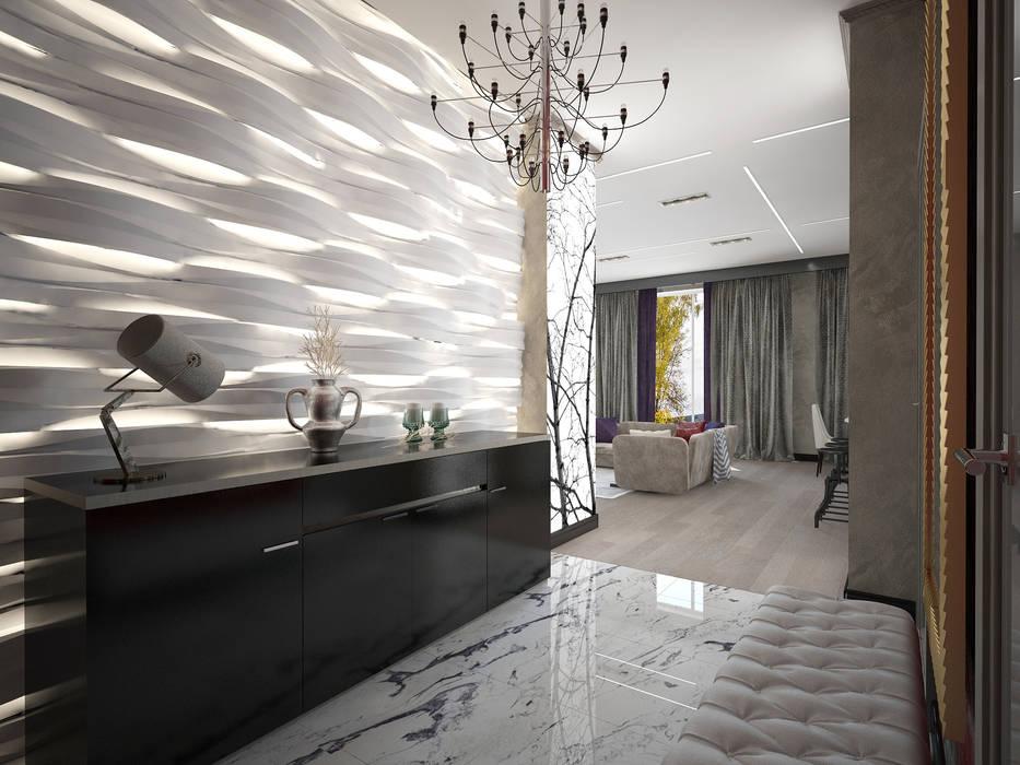 Couloir, entrée, escaliers originaux par Decor&Design Éclectique