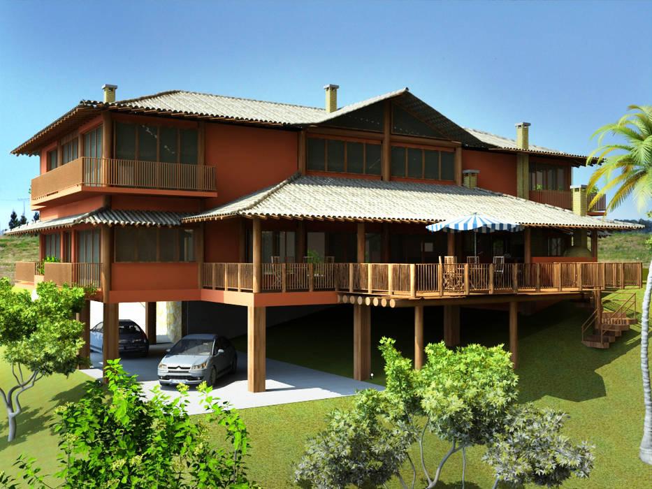 Maisons de style  par MADUEÑO ARQUITETURA & ENGENHARIA,