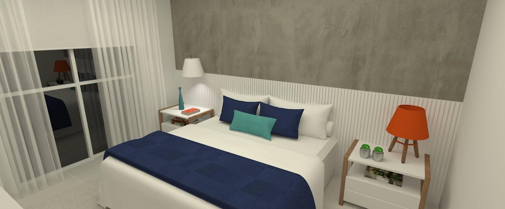 Apartamento família por Carolina Mendonça Projetos de Arquitetura e Interiores LTDA