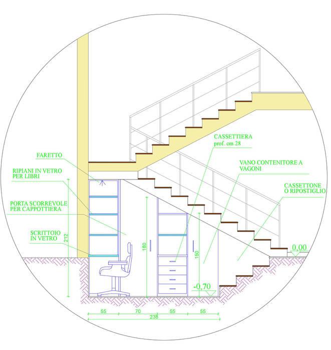 casa P: Ingresso & Corridoio in stile  di Rosa Gorgoglione Architetto