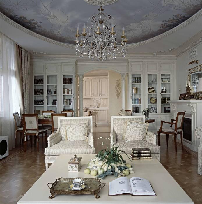 """Квартира """"Элегантная классика"""" Гостиная в классическом стиле от Архитектор Татьяна Стащук Классический"""