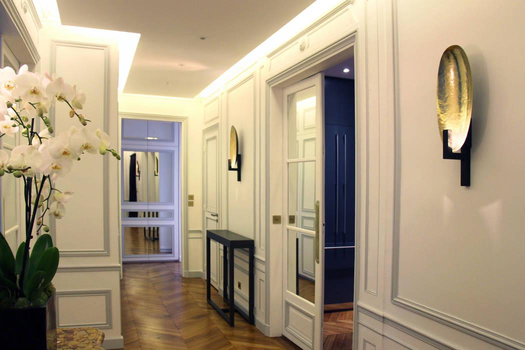 Rénovation d\'un appartement haussmannien à paris: couloir et hall d ...