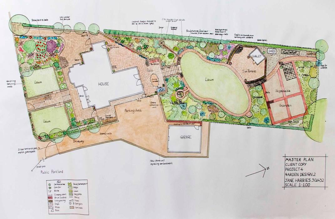 North Wales hillside garden by Jane Harries Garden Designs