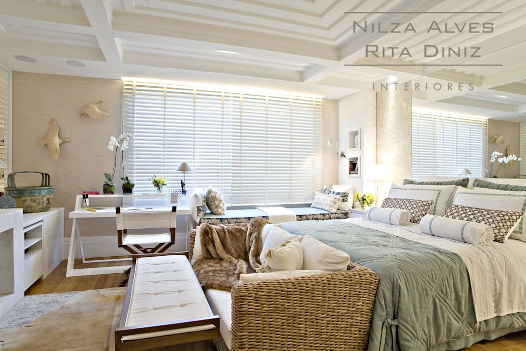 Chambre moderne par Nilza Alves e Rita Diniz Moderne
