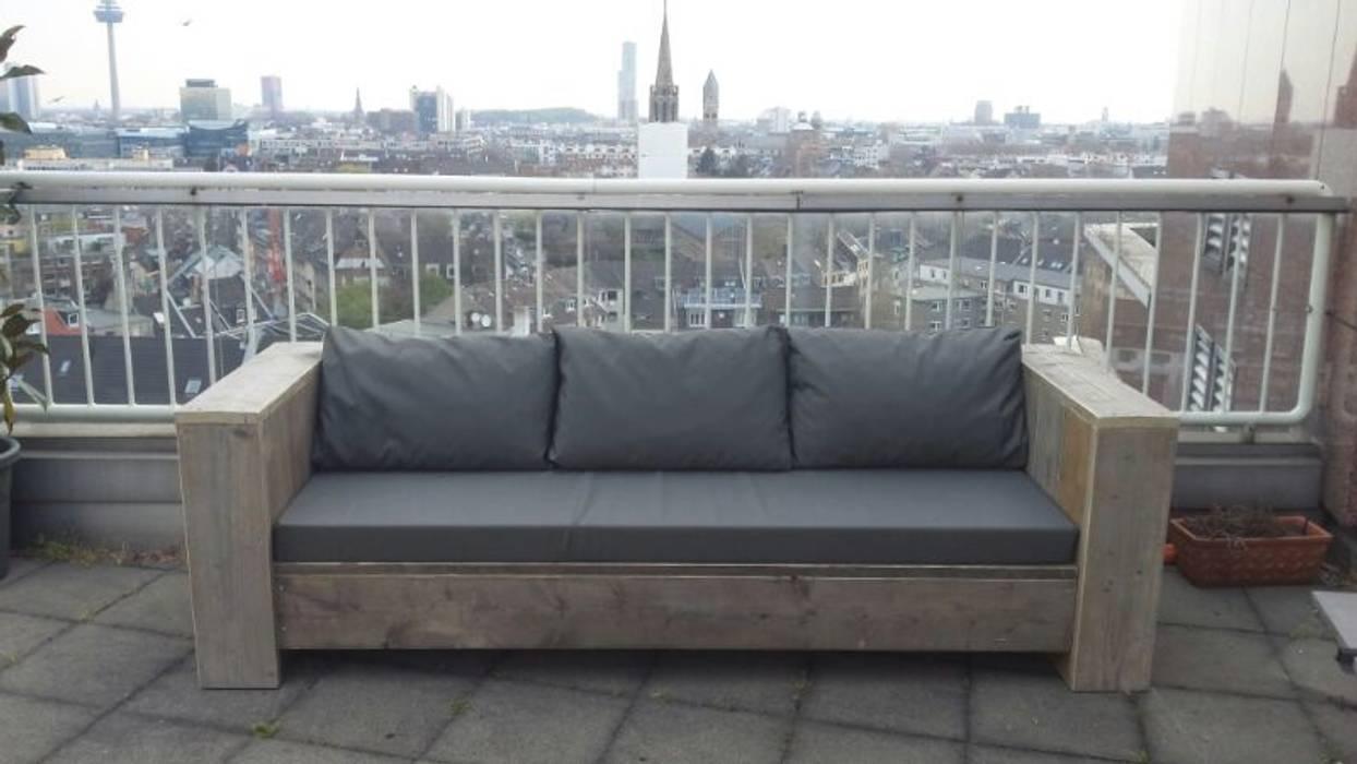 Bauholz Lounge Bank Berlin Balkon Veranda Terrasse Von Exklusiv