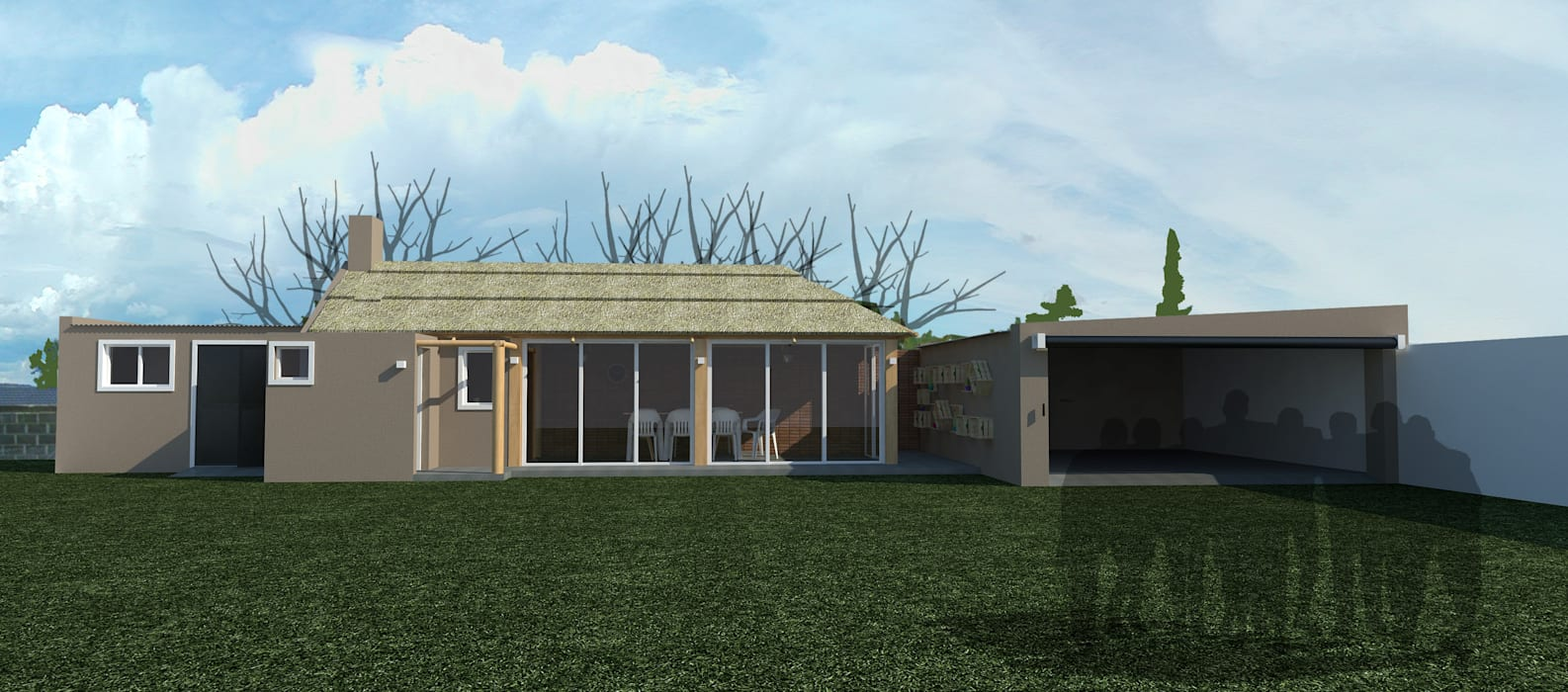 Fachada : Casas de estilo  por Bessone Arquitectos