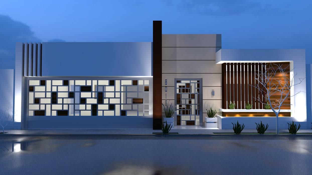 บ้านและที่อยู่อาศัย โดย RJ Arquitectos, โมเดิร์น