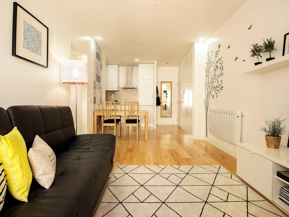 Apartamento da Glória Salas de estar escandinavas por homify Escandinavo
