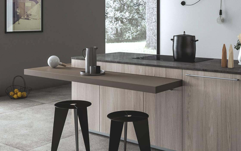 Ambiente cucina (a) – dettaglio piano snack: cucina in stile di nova ...