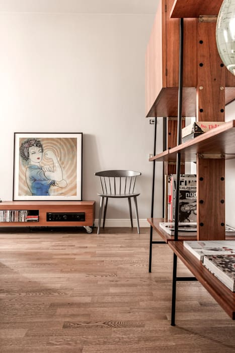 Appartamento Residenziale - Brianza 2014 Galleria del Vento Soggiorno in stile scandinavo