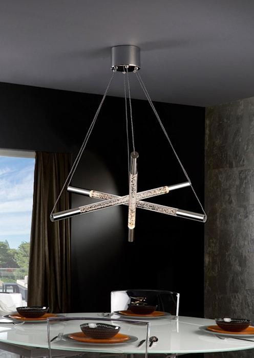 Lámpara moderna cosmo 6 luces: comedor de estilo de ámbar muebles ...