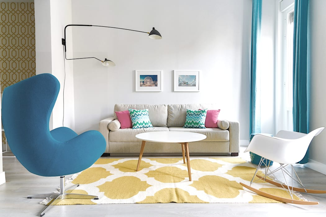 Vivienda en la Latina 2 Salones de estilo moderno de StudioBMK Moderno