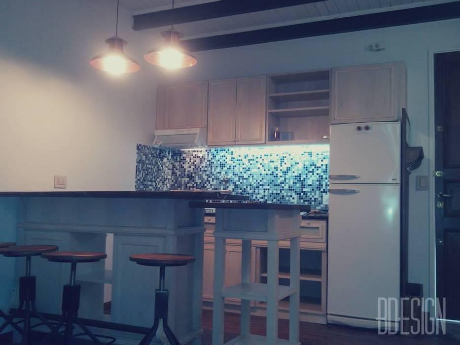 Estudio BDesign Industrial style kitchen Wood Beige