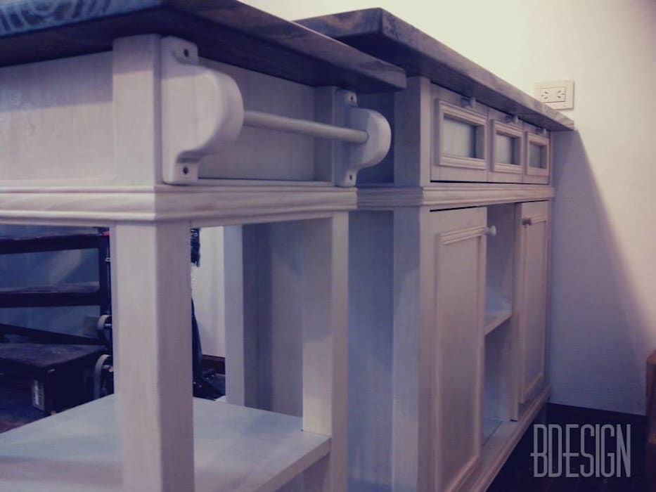 Estudio BDesign Industrial style dining room Wood Beige