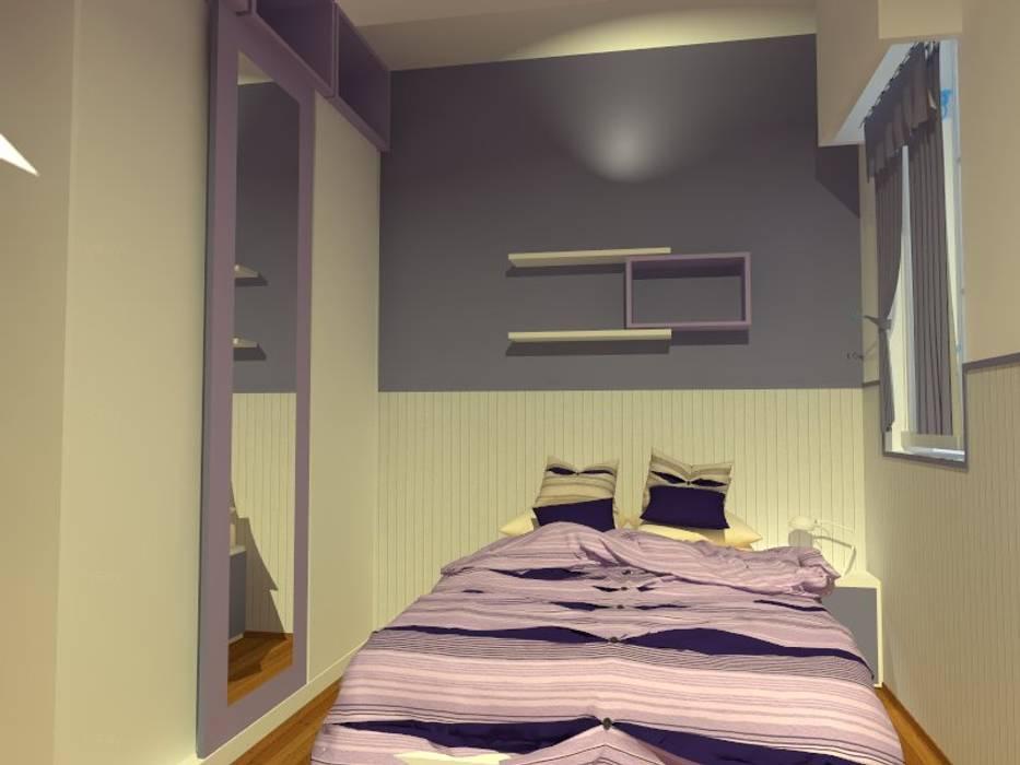 maqueta digital Dormitorios modernos: Ideas, imágenes y decoración de Estudio BDesign Moderno Compuestos de madera y plástico