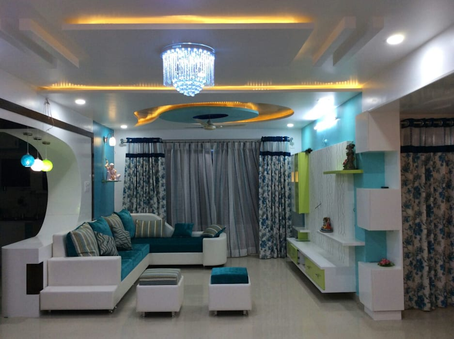 Living Room: modern Living room by Enliven Architectural Solutions
