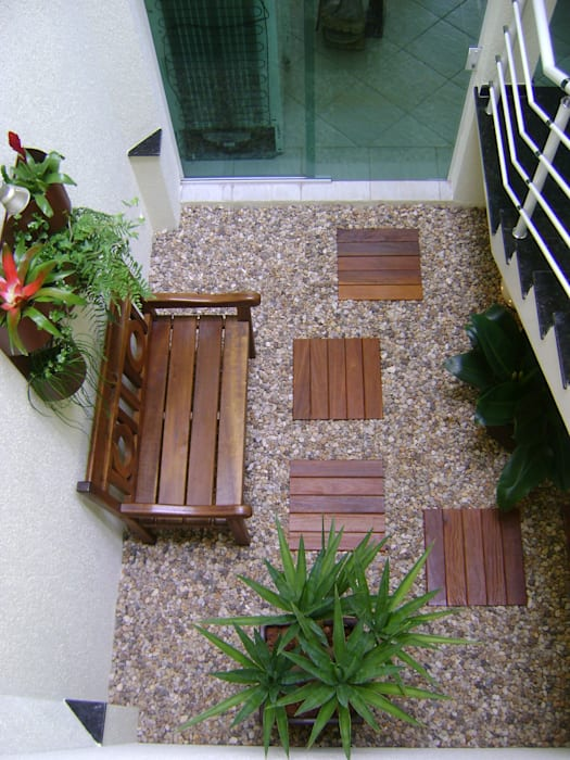 PAISAGISMO: JARDINS DE INVERNO BY MC3 Jardins de inverno modernos por MC3 Arquitetura . Paisagismo . Interiores Moderno