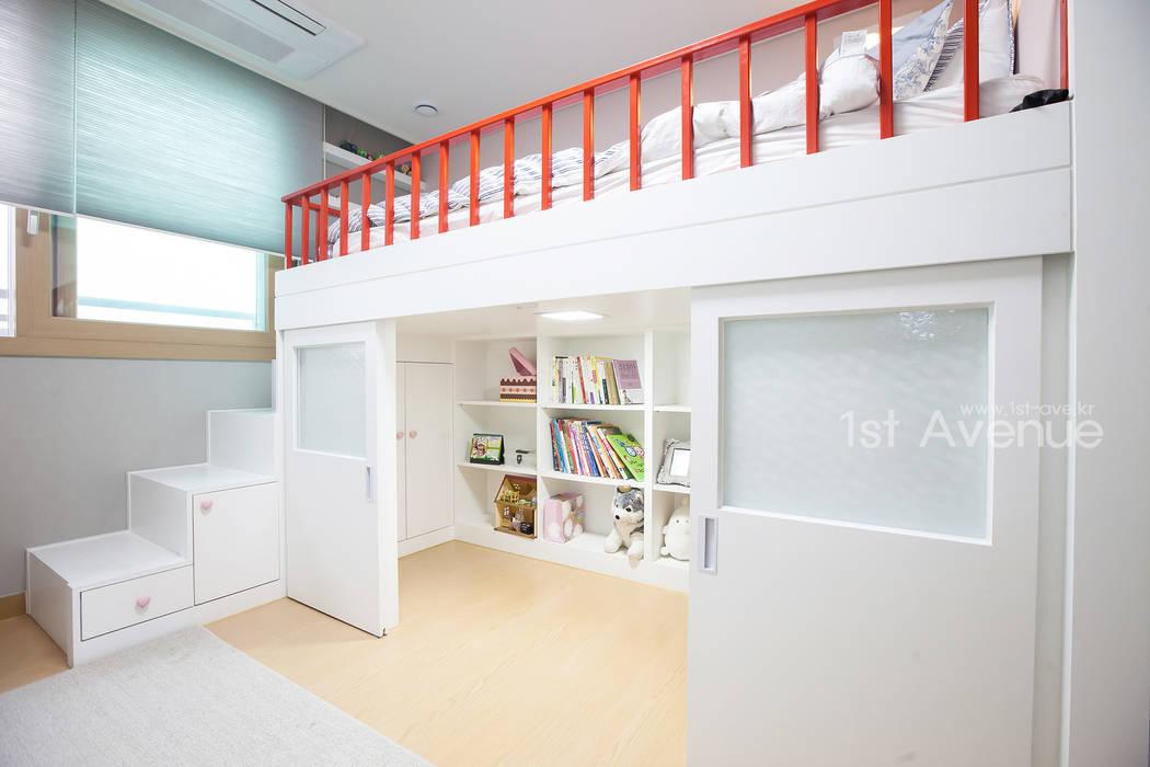 개성있는 침실이 있는 왕십리 인테리어: 퍼스트애비뉴의  아이방,모던