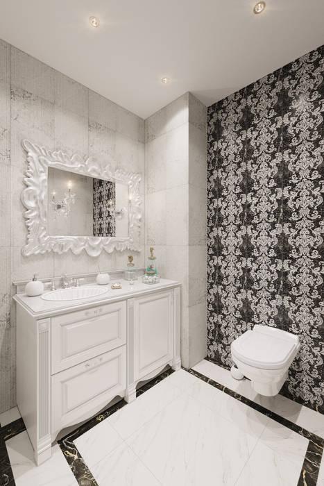 Baños de estilo  de Студия дизайна интерьера Маши Марченко, Clásico