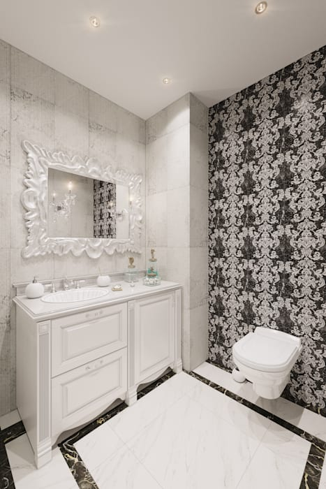 Bathroom by Студия дизайна интерьера Маши Марченко, Classic
