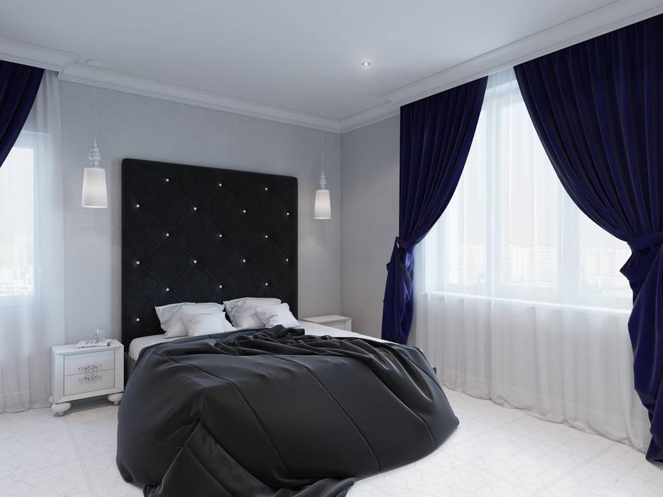 Квартира 90 кв.м. в ЖК «Ласточкино гнездо»: Спальни в . Автор – Студия дизайна интерьера Маши Марченко