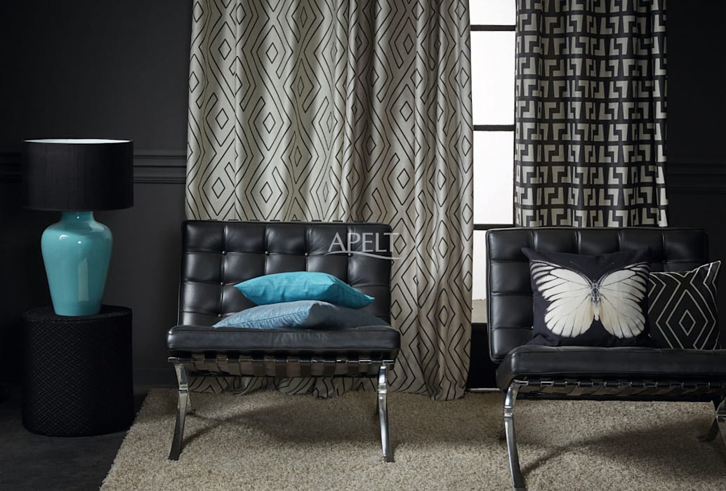 Easy elegance – vorhang und kissen moderne wohnzimmer von ...