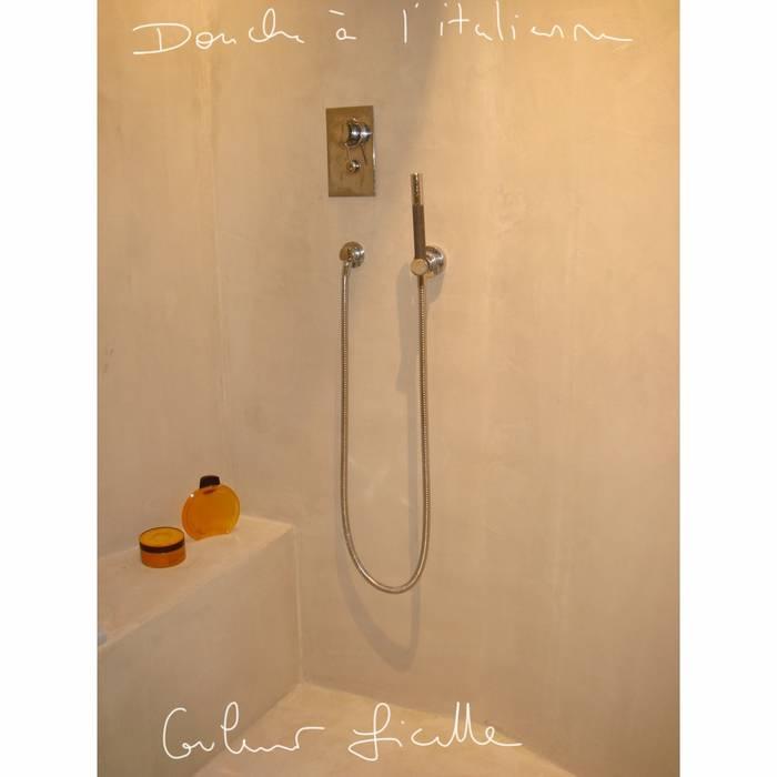 Salle de bain, douche à l\'italienne, béton ciré: salle de bain de ...