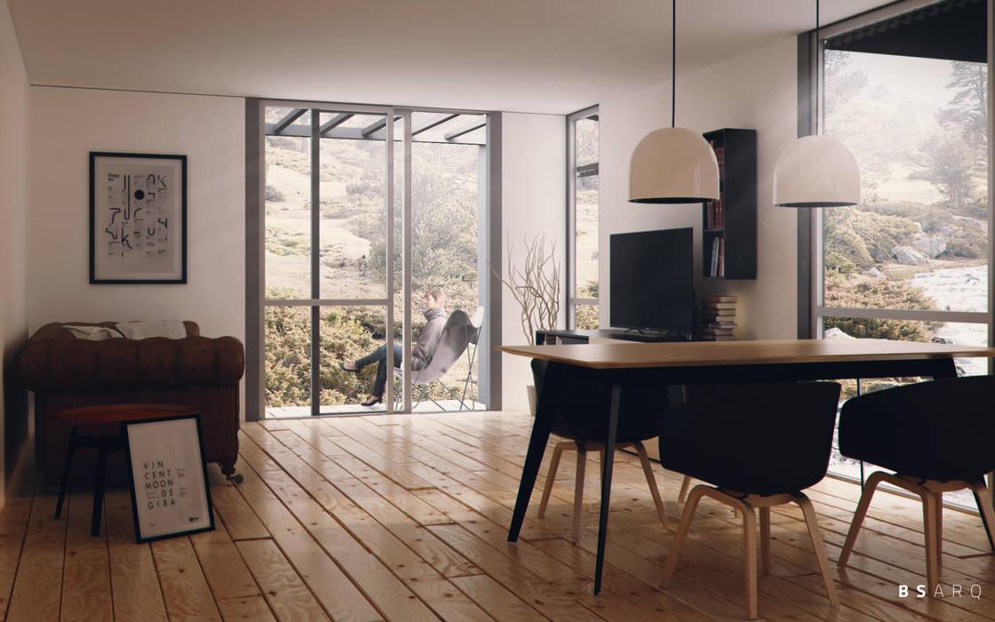 Viviendas Prefabricadas Salones minimalistas de BS ARQ Minimalista Madera Acabado en madera