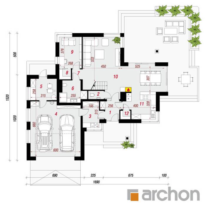 Projekt: Willa Oliwia: styl , w kategorii  zaprojektowany przez ARCHON+ PROJEKTY DOMÓW