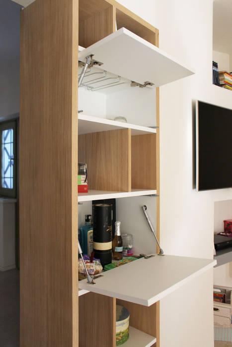 Parete componibile 3.9: soggiorno in stile di essenza legno ...