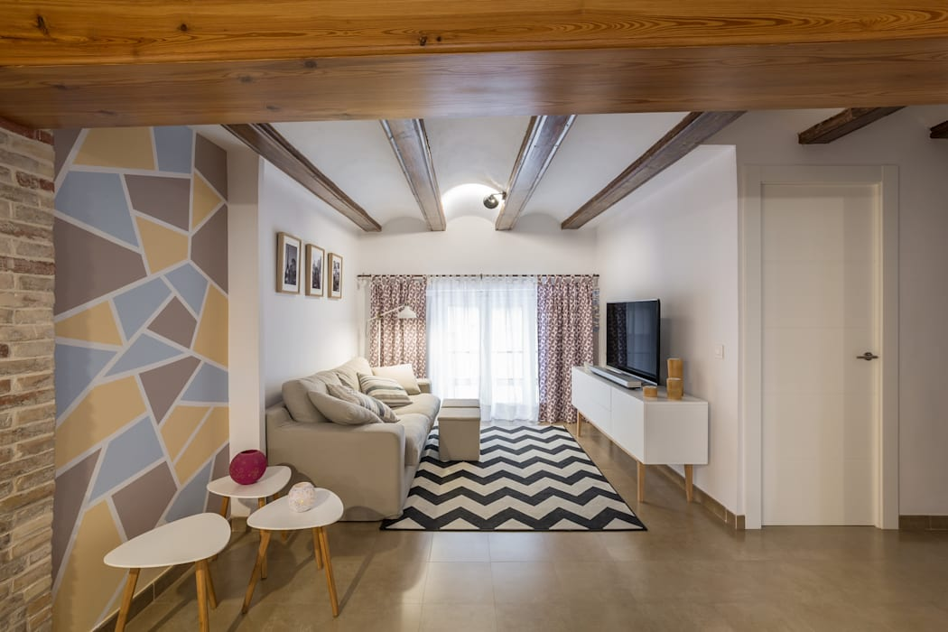 Sala de estar Salones rústicos de estilo rústico de LLIBERÓS SALVADOR Arquitectos Rústico