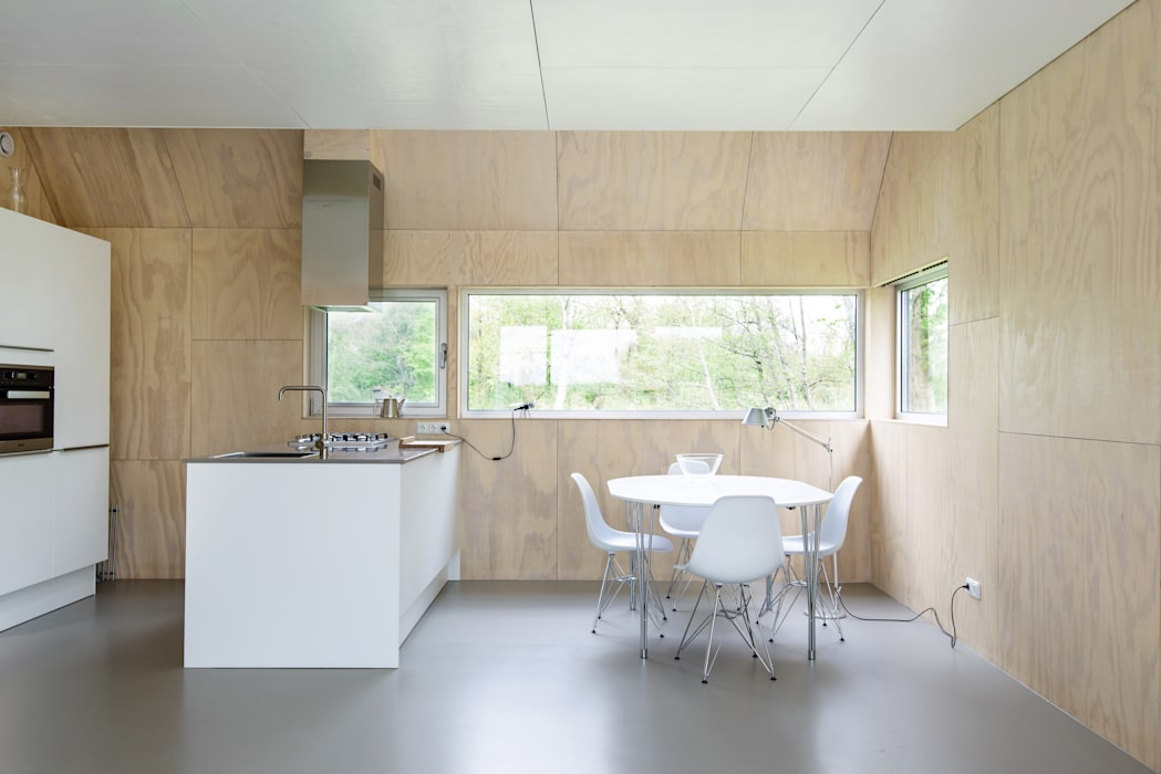 Kwint architecten Cocinas de estilo minimalista