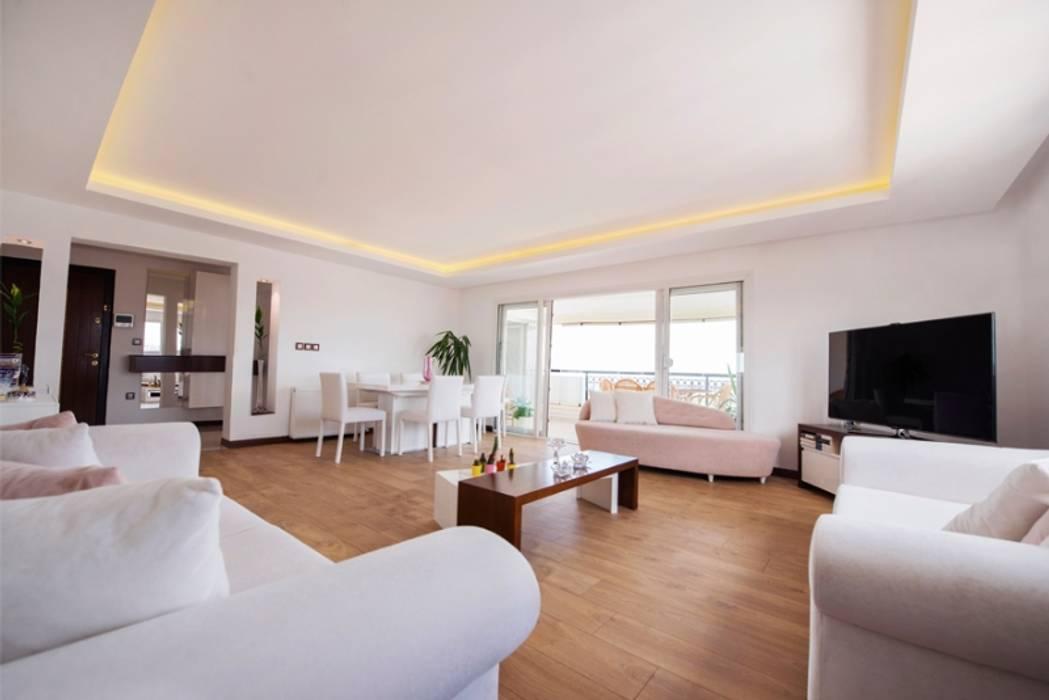 İkiztepe Konakları BAGO MİMARLIK Modern Oturma Odası