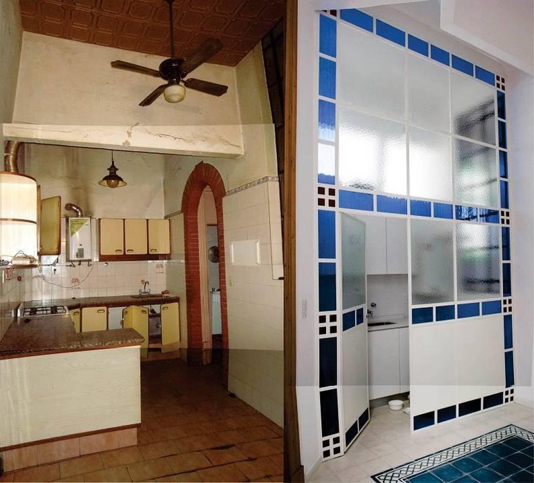 ANTES y DESPUES de cocina a lavadero Cocinas de estilo ecléctico de homify Ecléctico Hierro/Acero