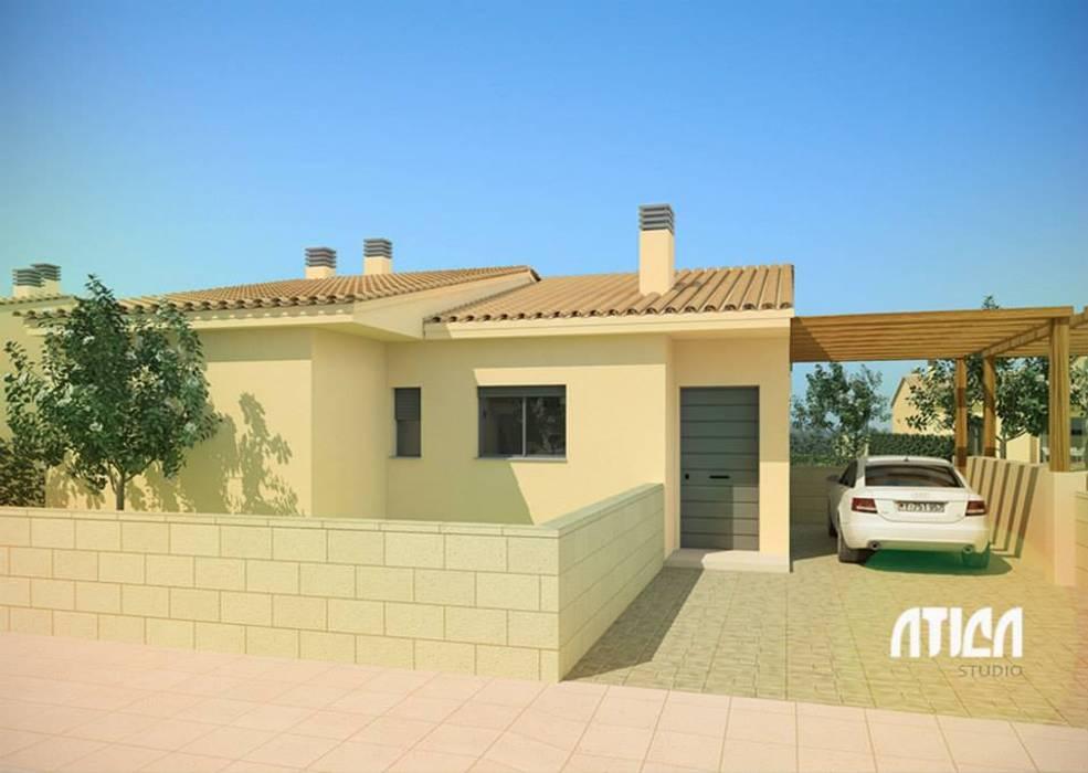 Casas de estilo  por ATICA Studio