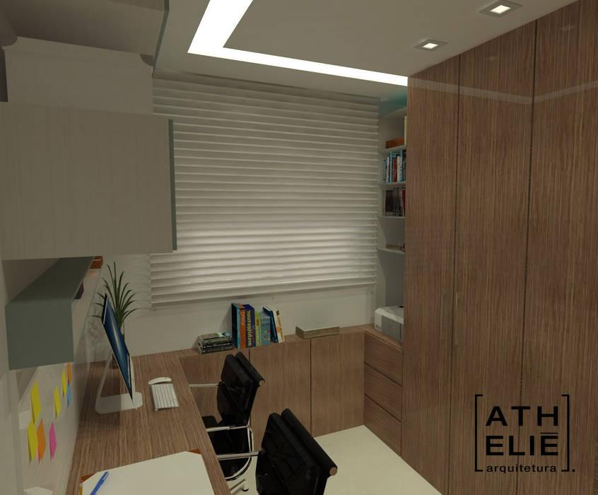 Home Office: Escritórios  por ATHeliê Arquitetura