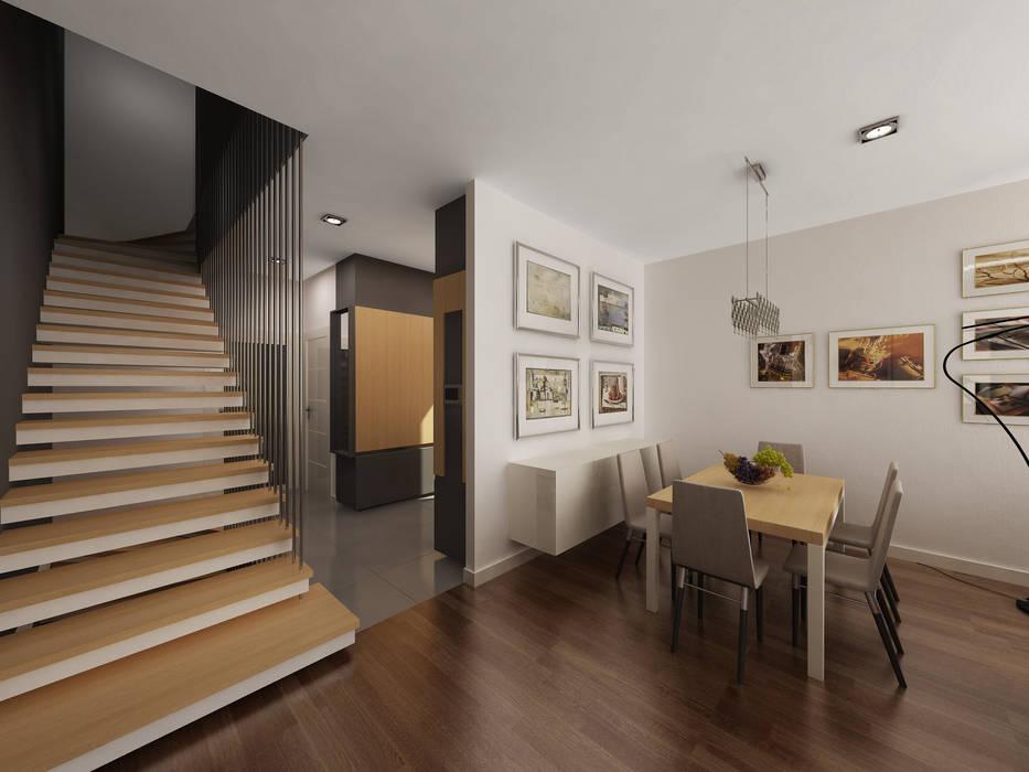 Oturma Odası Modern Koridor, Hol & Merdivenler homify Modern
