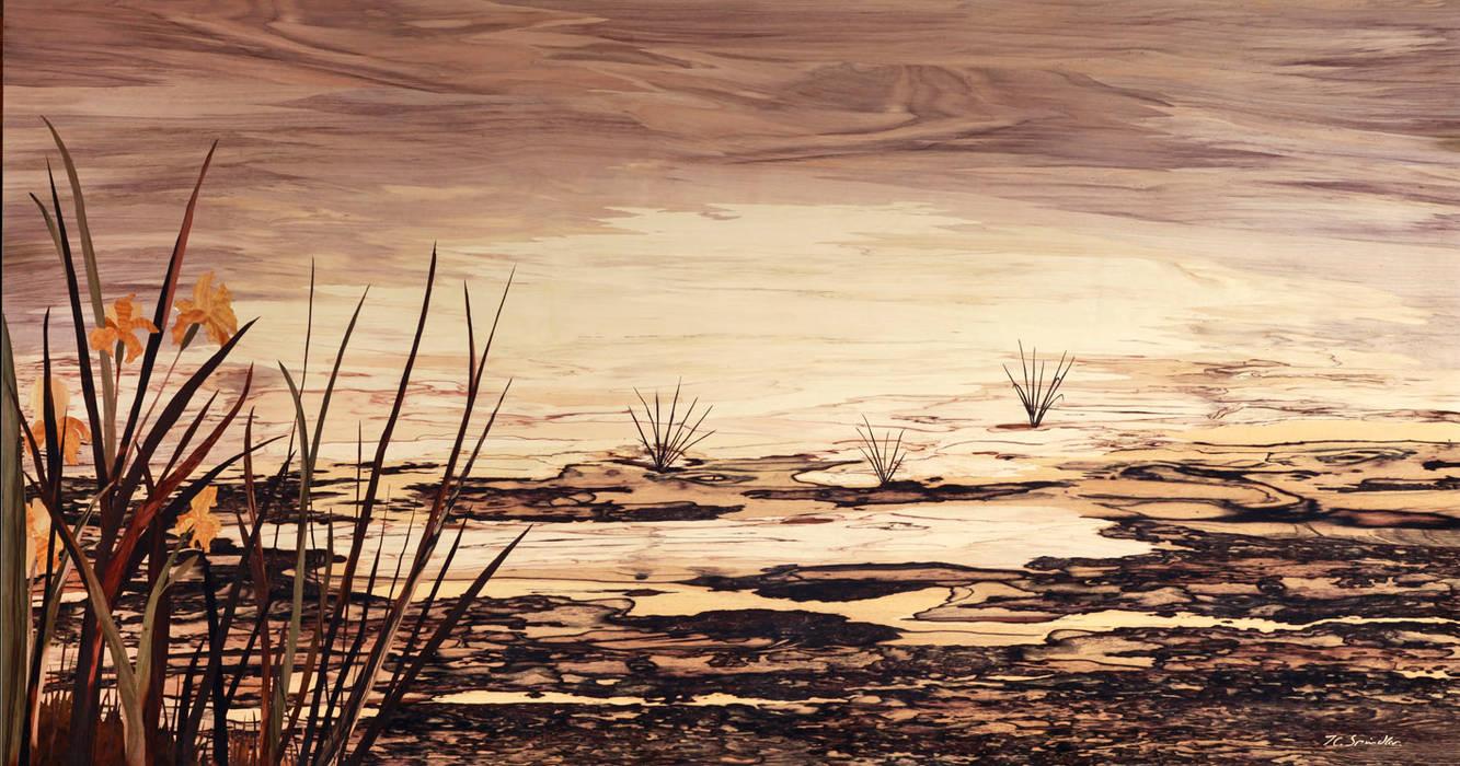 RIVAGES par MARQUETERIE D ART SPINDLER Classique Bois Effet bois