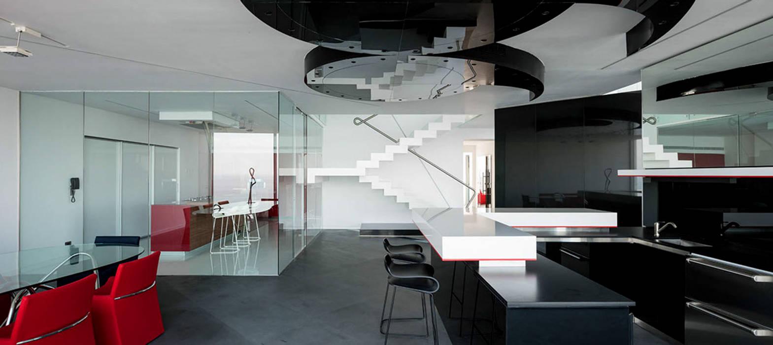 45° Salas de estilo moderno de Design Group Latinamerica Moderno