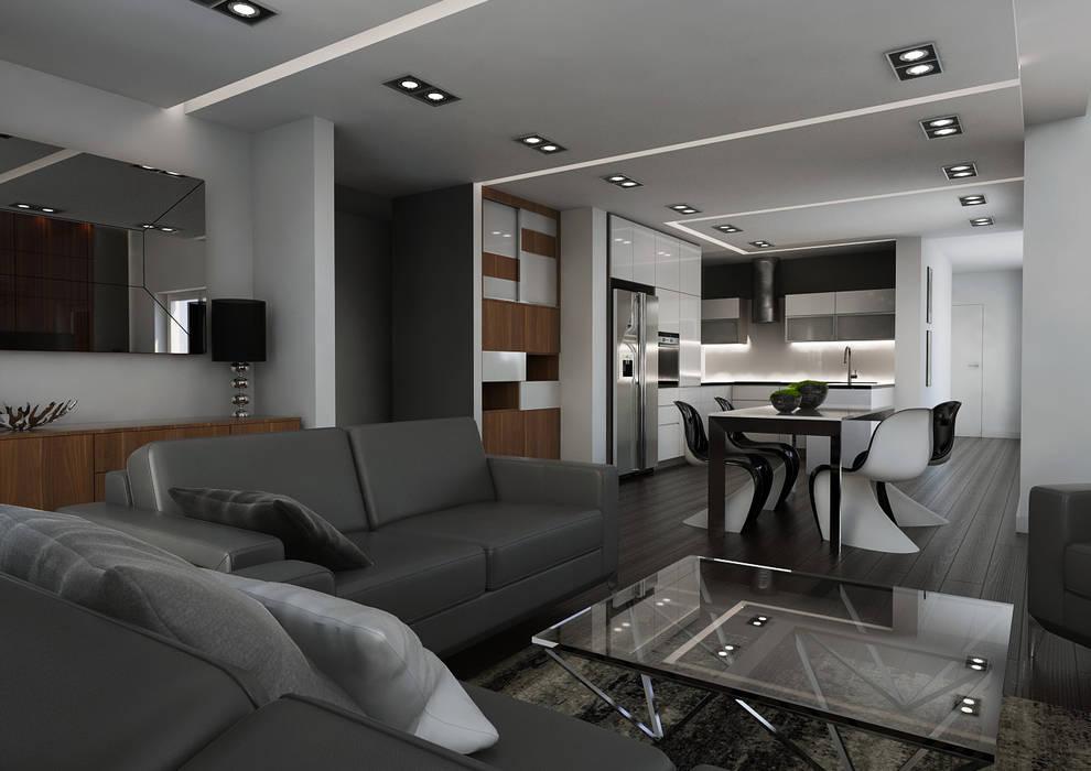 Minimalist living room by malee Minimalist